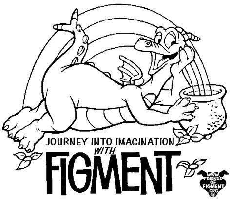 Fcb02 Bmp 667 575 Pixels Disney Coloring Pages Figment Disney