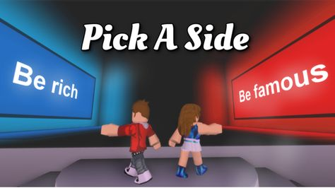 Pick A Side Roblox Roblox This Or That Questions Sides