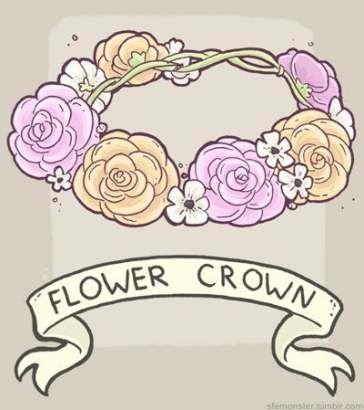 56 Ideas Flowers Crown Drawing Rose Flower Crown Tumblr Flower Crown Drawing Crown Drawing