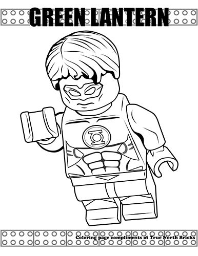 Coloring Page Green Lantern Superman Coloring Pages Lego