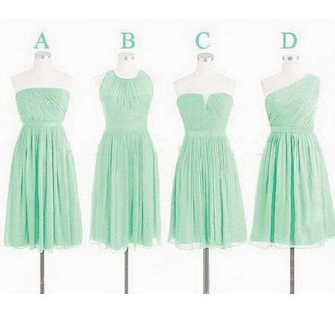 884a1bbeac8e9 Custom Mint Green Bridesmaid Dresses, Short Bridesmaid Dress, Cheap  Bridesmaid Dresses, Mismatch Bridesmaid Dress, Wedding Party Dresses, ...