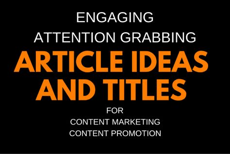 I will find article ideas and titles for your content marketing plan