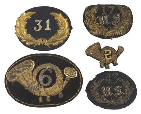 Civil War Brass Hat Insignia REGIMENTAL NUMERALS