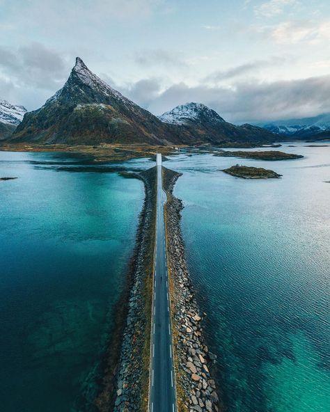 Road to Lofoten Islands Norway