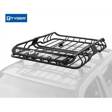 Tyger Auto Tg Rk1b902b Heavy Duty Roof Mounted Cargo Basket Rack L47 X W37 X H6 Roof Top Luggage Carrier With Wind Fairing Walmart Com In 2020 Luggage Carrier