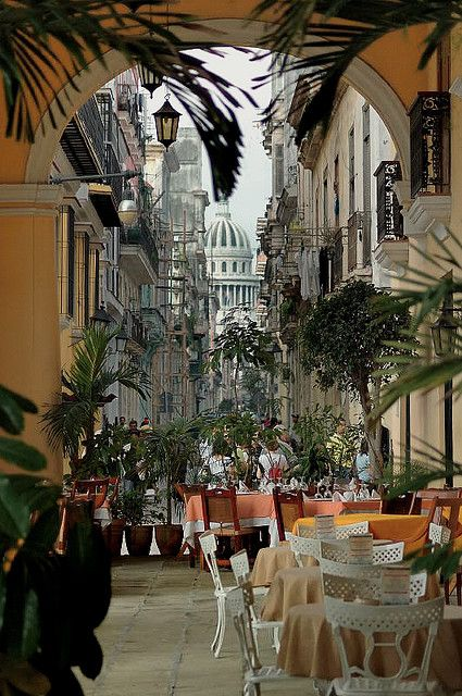 I wouldn't mind having a Cuban cigar and a cup of Cuban coffee in the old streets of Havana