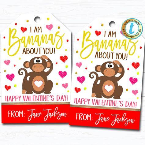 🐣. Offer Xtras! Valentine Banana Gift Tags, Fruit Treat Label, Bananas About You Appreciation Favor Tag, Teacher Staff School Pto Pta, DIY Editable Template for $7.75 #HealthyFruitTag #BananaValentine #TeacherAppreciation #ValentinesDay #ClassroomParty #AboutYouTag #SchoolPtoPta #WeAreBananas #StaffCoworkerGift #ThankYouTag