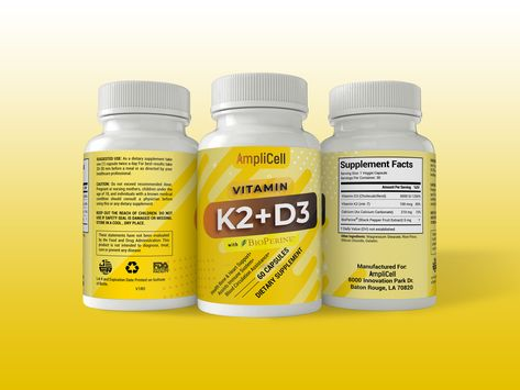 Vitamin K2 + D3 Label Design