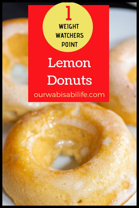 ONLY 1 POINT! Want to make Lemon Donuts at home? You have to try this recipe. These lemon doughnuts are so good you might eat the whole batch. But don't worry, they are only 1 point on Weight Watchers Lemon Dessert Recipes, Ww Desserts, Lemon Recipes, Donut Recipes, Ww Recipes, Light Recipes, Dessert Healthy, Healthy Food, Waffle Recipes