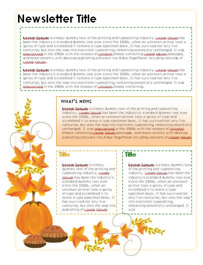 Happy Thanksgiving Template #free to customize, download, print - free school newsletter templates for word