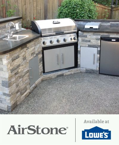 Upgrade Your Grill And Outdoor Kitchen With Airstone Lightweight And Easy To Install No Special Tools Requi Outdoor Kitchen Outdoor Seating Areas Dream Patio