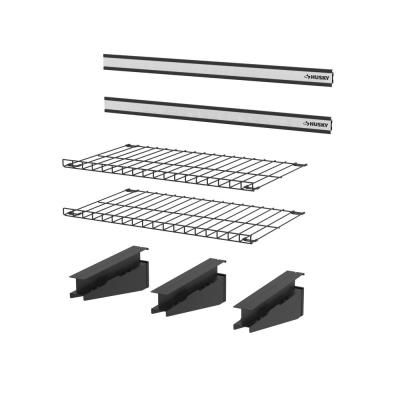 Rubbermaid Fasttrack Garage 84 In Hang Rail Track Storage System 1784416 The Home Depot In 2020 Storage System Hanging Rail Rubbermaid