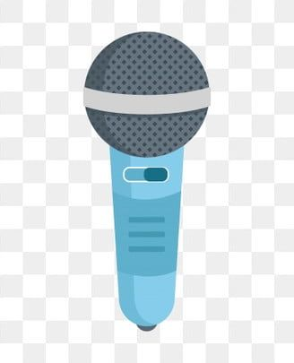 Hand Drawn Microphone Blue Microphone Illustration Cartoon Microphone Blue Microphone Microphone Singing Microphone Host Microphone Png And Vector With Trans How To Draw Hands Blue Microphones Singing Microphone