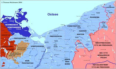 Historische Karte Pommern 1789 Landkarte Deutschland