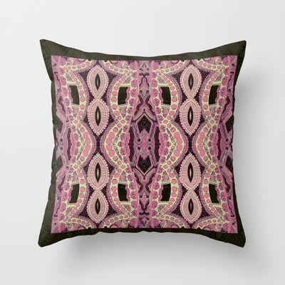 Roses and Sage Throw Pillow by JoonMoon - $20.00