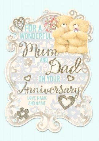 Wonderful Mum Dad Personalised Anniversary Card Personalized Anniversary Cards Personalized Anniversary Anniversary Cards