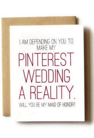 "Planning to ask ""Will You Be My Bridesmaid?"" Here are 17 sweet & side splitting, creative ways to pop the question to your Bridesmaids & Maid of Honor! Funny Wedding Gifts, Funny Wedding Invitations, Wedding Party Invites, Wedding Humor, Party Invitations, Wedding Favors, Bridesmaid Proposal Cards, Bridesmaid Boxes, Be My Bridesmaid Cards"