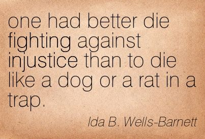 Image result for ida b wells quotes