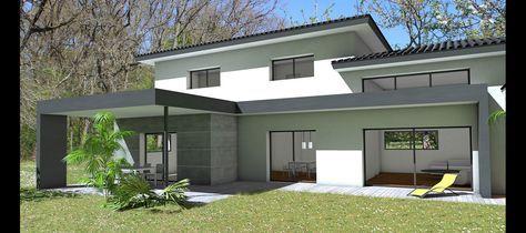 Maison d\'architecte contemporaine à casquette béton, terrasse ...