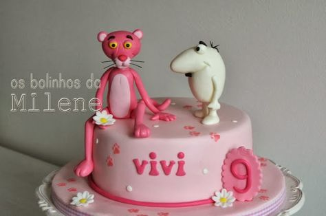 Pink Panter Cake With Images Pink Panther Cake Cupcake Cakes