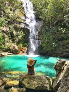 Cachoeira Santa Barbara Chapada Dos Veadeiros Goias Cachoeira