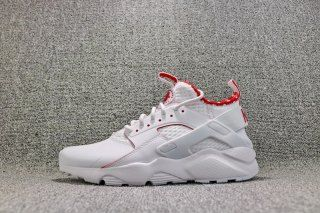 Advanced Nike Air Huarache Pu Material White Red 875841 116