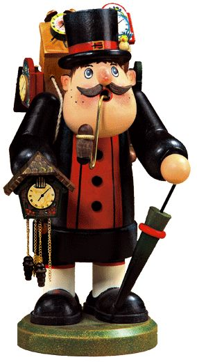 Swiss Clock Seller, Incense Smoker