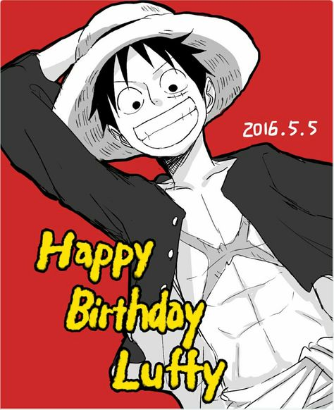 Happy Birthday Luffy Text Monkey D Luffy One Piece One
