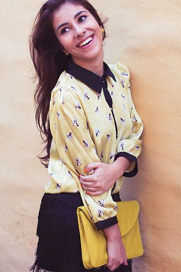 Aishop Printed Dog Shirt, Pima Fringed Skirt