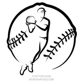 Baseball Throw In Stylized Ball Sportsartzoo Baseball Drawings Baseball Painting Baseball Design