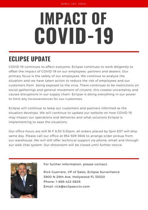 Impact of the Novel coronavirus – Eclipse Security