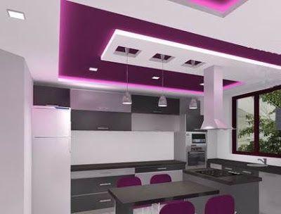 Modern Pop False Ceiling Designs For Kitchen Interior With Lighting Pop Design For Kitchen Ceiling Design Kitchen Ceiling Design Ceiling Design Living Room