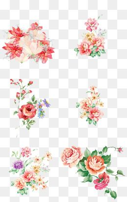 Watercolor Flower Clipart 41 Bright Branches Flowers And Leaves