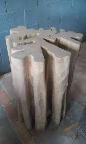 Resultado de imagem para base mesa tronco