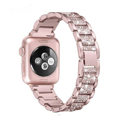 Details About Apple Watch Band 40mm 44mm 38mm 42mm Women Diamonds Band Series 4 3 2 1 Designs 38mm Apple Watch Band Apple Watch Bands Watch Bands