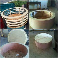 Round Ottoman With S In 2020 Diy Storage Ottoman Round Storage