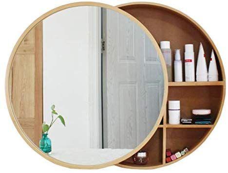 Amazon Com Xing Hua Shop Wall Mounted Mirror Bathroom Mirror Cabinet Bathroom Mirror In 2020 Round Mirror Bathroom Bathroom Mirror With Shelf Medicine Cabinet Mirror