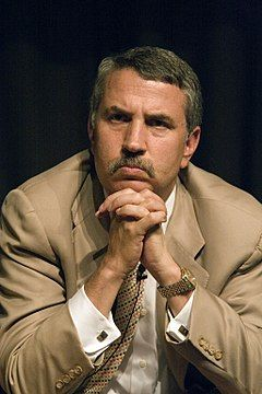 Thomas Friedman In Suit Clasping Hands Below Chin Thomas Friedman Ny Times Master Degree Programs