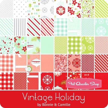 Moda VINTAGE HOLIDAY Bonnie /& Camille JELLY ROLL 40 strips Quilting CHRISTMAS