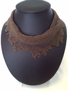 DamnedHalo's Beading Babble: Pattern Stagnation, 4 different necklaces using RAW