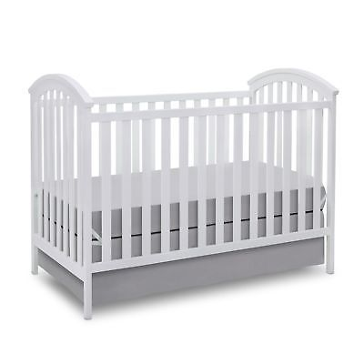 Delta Children Arbour 3 In 1 Convertible Baby Nursery Crib Toddler Bed White Moveis