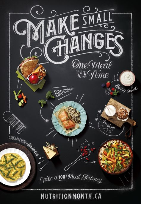 Celebrate Nutrition Month - Make Small Changes, One Meal At A time food menu Nutrition Month 2019