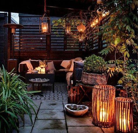 Ideas Para Decorar Terraza Muebles De Ratan Muchas Velas