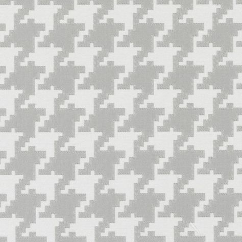 Grey Houndstooth Upholstery Fabric Large Scale Houndstooth Fabric