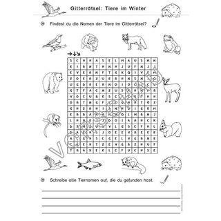 Tiere Im Winter Werkstatt Uberwinterung Unterrichtsmaterial Lernwerkstatt Und Grundschule