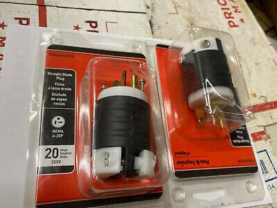 LOT OF 2 NEW PASS /& SEYMOUR CONNECTOR 20A 20 AMP A 250V