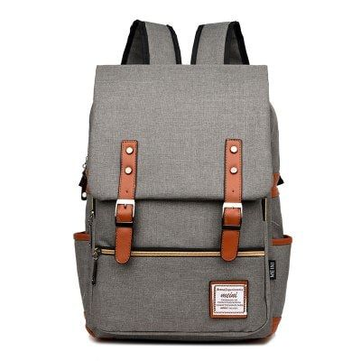 Travel Laptop Backpack Retro Male//Female Backpack Waterproof Zipper Leather Ipad Bag Travel Leisure Shopping Waterproof Computer Backpack Color : Dark Brown