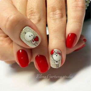 Valentine's Nails Designs Ides for Make Your Happy in February - Fafifu