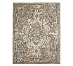 Maelynn Printed Rug Charcoal Persian Style Rug Neutral Rugs Rug Styles