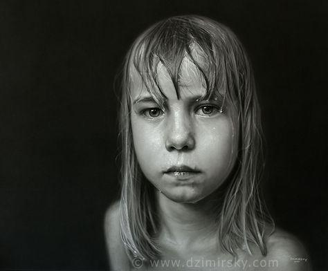 #Realist drawing Frozen, 2010 Charcoal drawing on canvas,Howard Tullman Collection, USA by Dirk Dzimirsky  Unbelievably realistic! Love it.
